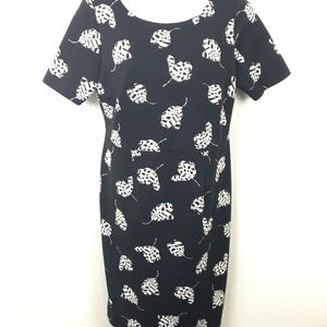Vince Camuto 1XL Black White Body Con Career Dress